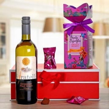 White Wine And Chocolate Gift Hamper