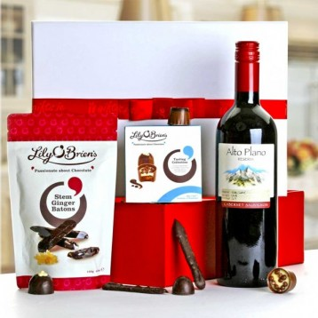 Red Wine and Chocolate Gift Hamper