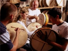 Dinner and Learning to Play the Bodhrán for Two