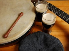 Dinner and Learning to Play the Bodhrán